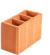 tijolo vedação 3 furos 14x19x29 Braúnas